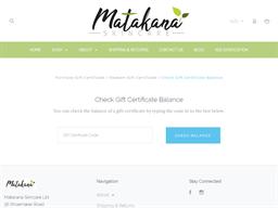 Matakana Skincare gift card balance check