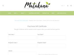 Matakana Skincare gift card purchase