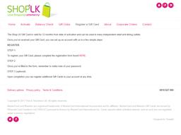 Shop LK gift card balance check
