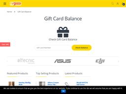 NRG Store gift card balance check