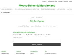 Meaco Dehumidifiers gift card balance check