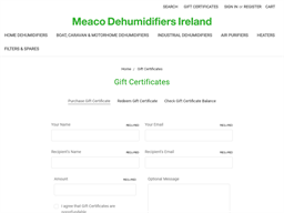 Meaco Dehumidifiers gift card purchase