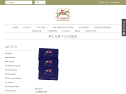 PC Racewear gift card purchase