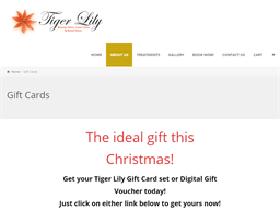 Tiger Lily Beauty Salon gift card purchase