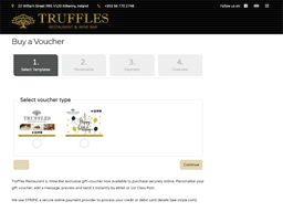 Truffles Restaurant and Wine Bar gift card purchase