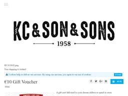 KC & Son & Sons gift card purchase