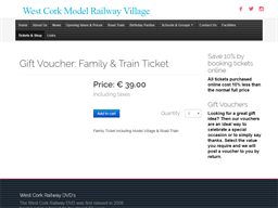 West Cork Model Railway Village gift card purchase