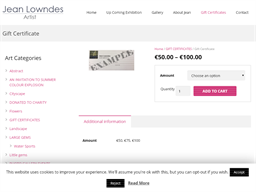 Jean Lowndes Art gift card purchase