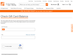 Home Depot gift card balance check