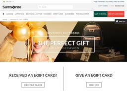 Samsonite gift card purchase