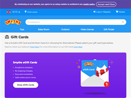 Smyths Toys Store gift card purchase
