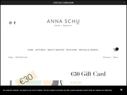 Anna Schu gift card purchase