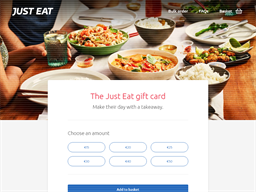 Just Eat Gift Cards shopping