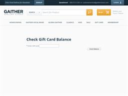 Gaither Music Company gift card balance check