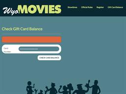 Wyo Movies gift card balance check