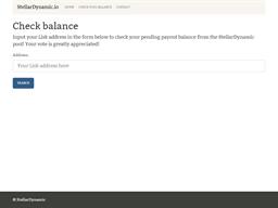 Stellar Dynamic gift card balance check