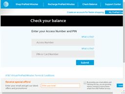 Virtual PrePaid Minutes gift card balance check
