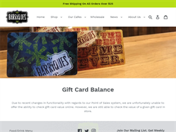 Barriques Coffee Roasters and Cafes gift card balance check