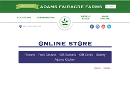 Adams Fairacre Farms gift card purchase