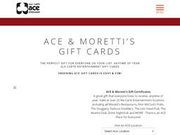 Ala Carte Entertainment Restaurant Group gift card purchase