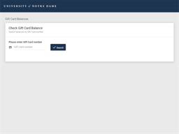 University of Notre Dame gift card balance check