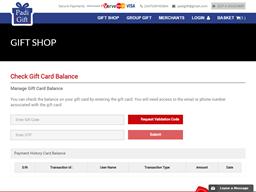 Padi Gift gift card balance check
