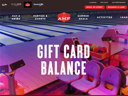 The AMF Bowling Co. gift card balance check