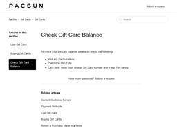 Pac Sun gift card balance check
