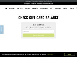 Planet Blue gift card balance check