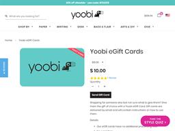Yoobi gift card purchase