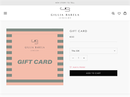 Giulia Barela gift card purchase