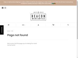 Beacon Mercantile gift card balance check