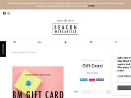 Beacon Mercantile gift card purchase