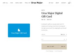 Ursa Major Skincare gift card purchase
