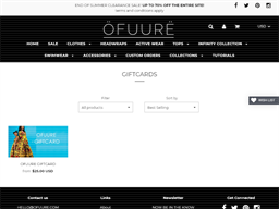 Ofuure gift card purchase