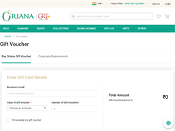 Oriana GRT Jewellers gift card purchase