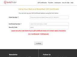 bnb Finder gift card balance check