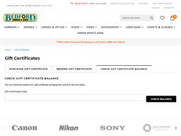 Bedford Camera & Video gift card balance check