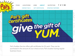 Pal's Sudden Service gift card purchase