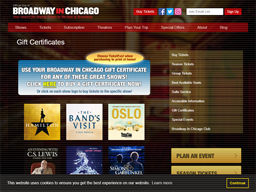 Broadway In Chicago gift card purchase