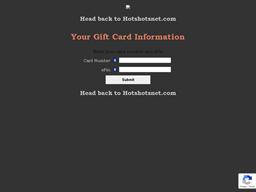 Hot Shots Sports Bar & Grill gift card balance check