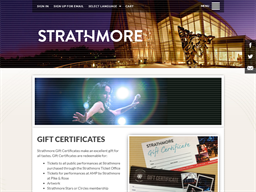 Strathmore gift card purchase