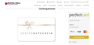 Löhr Center Koblenz gift card purchase