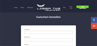 Lasertag München gift card purchase