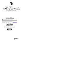 Il Fornaio gift card balance check