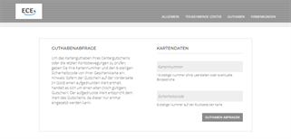 Alstertal-Einkaufszentrum Hamburg gift card balance check