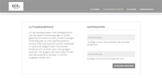 City-Point Kassel gift card balance check