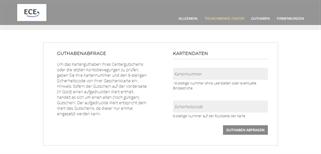 Rheinpark-Center Neuss gift card balance check