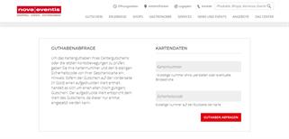 nova eventis Leipzig / Halle gift card balance check