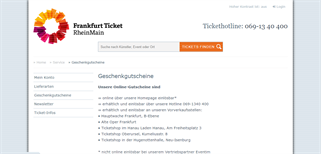Frankfurt Ticket gift card purchase